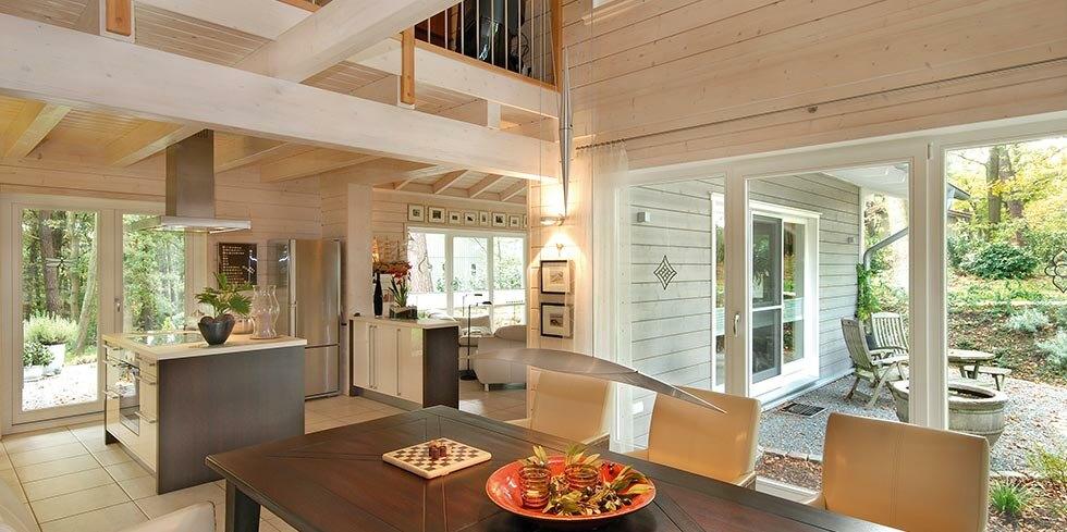 holzhaus eine ebene holzh user von stommel haus. Black Bedroom Furniture Sets. Home Design Ideas
