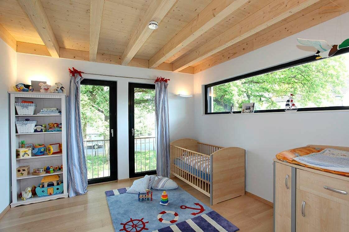 Holzhaus bauhausstil eine stadtvilla in bonn - Kinderzimmer holzhaus ...