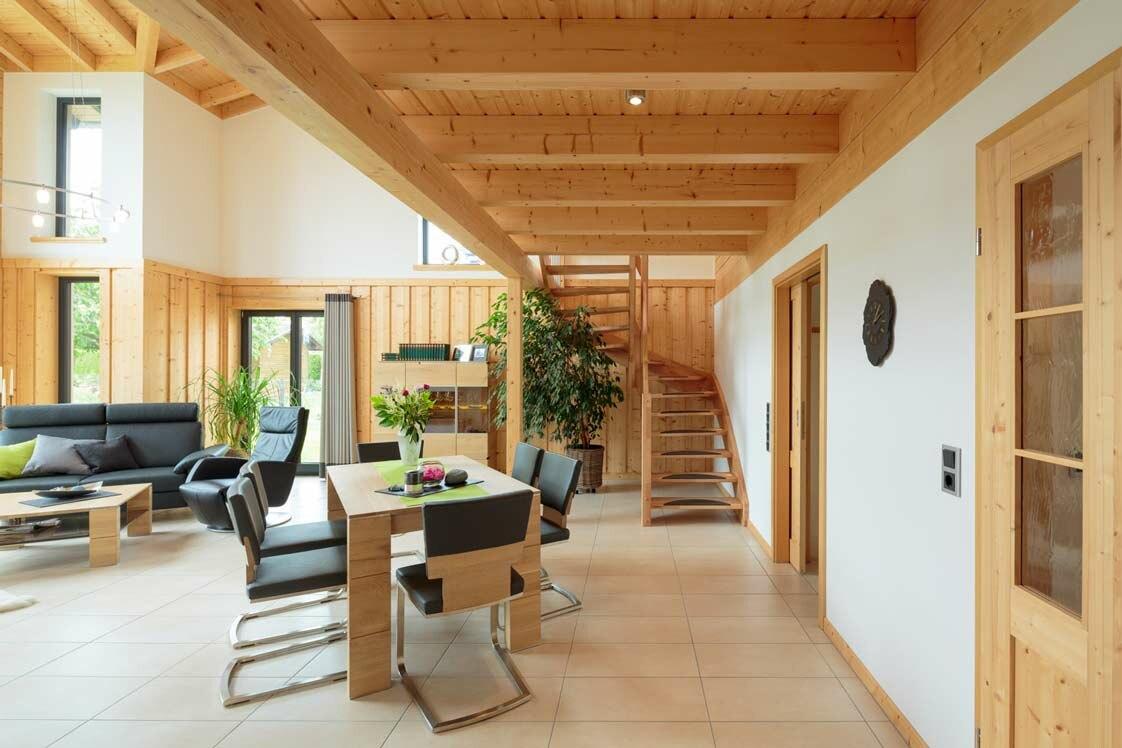 Schlüsselfertiges Haus, moderner Landhausstil | Holzhäuser ...