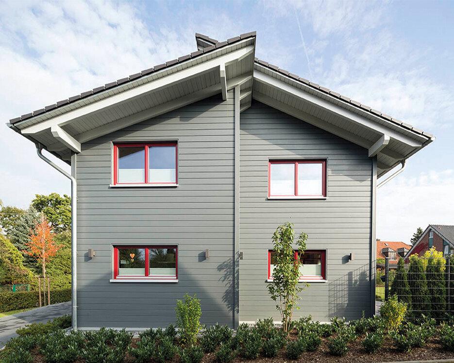 Stadthaus aus holz holzh user von stommel haus for Haus bauen katalog